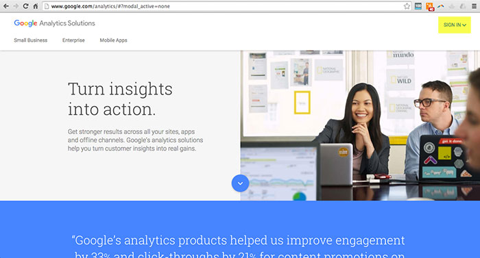 Adding Your Site to Google Analytics Step 1