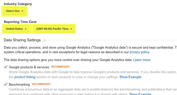 Adding Your Site to Google Analytics Step 5