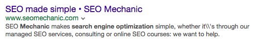 Examples of meta descriptions in Yahoo