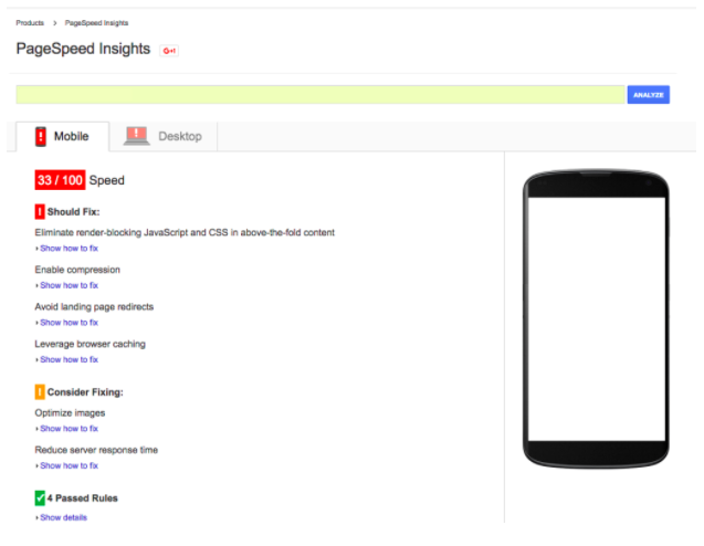 Mobile Page Speed Indications on Google