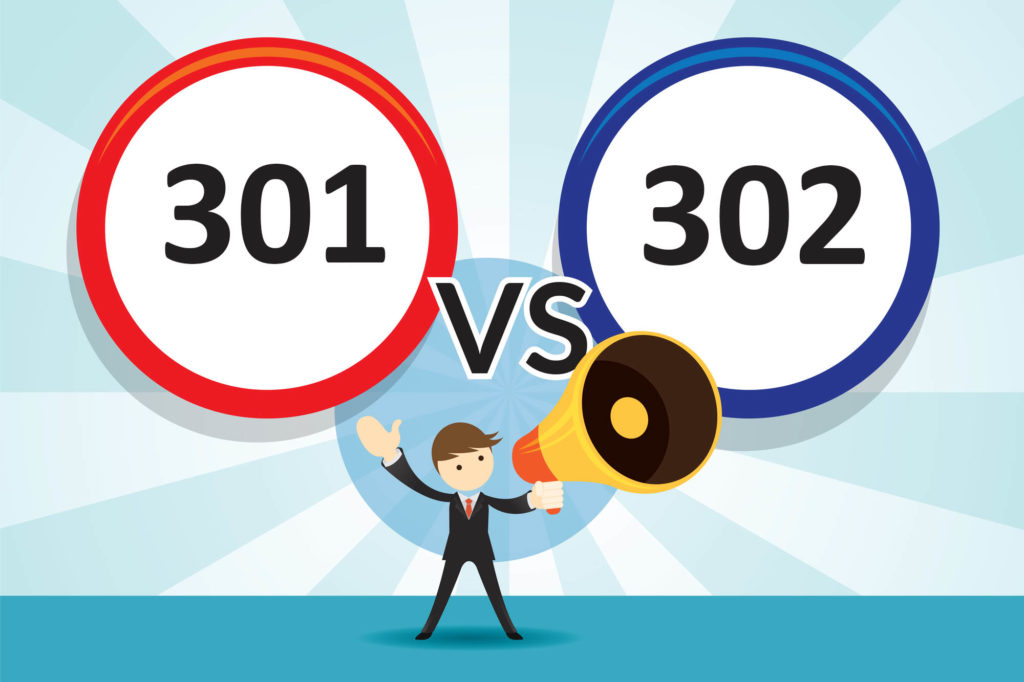 301 versus 302 redirects