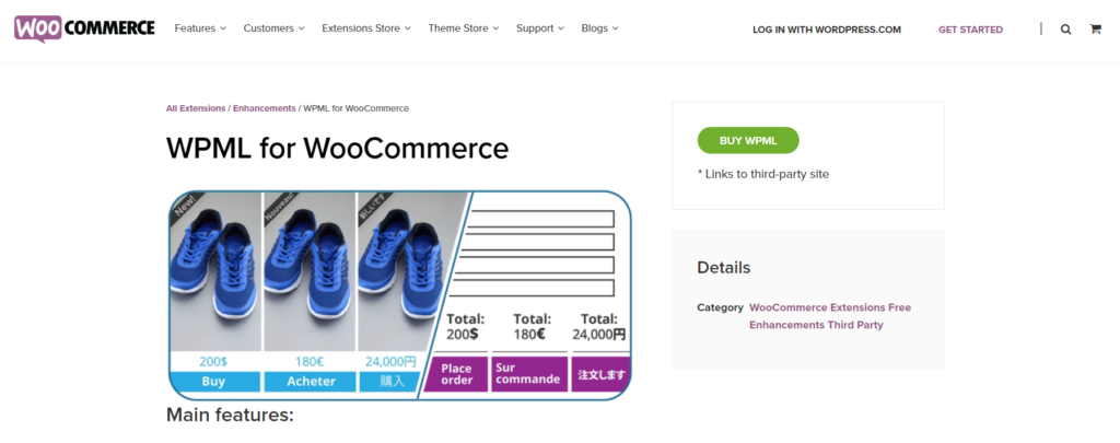 WPML for WooCommerce