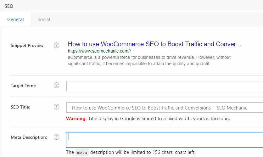 Woo Commerce SEO Plugin